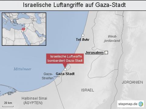 Israelische Luftangriffe auf Gaza-Stadt