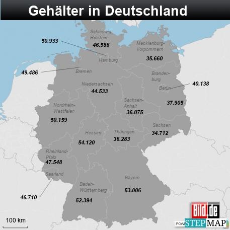 Gehälter in Deutschland
