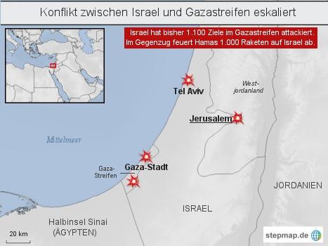 Konflikt zwischen Israel und Gazastreifen eskaliert