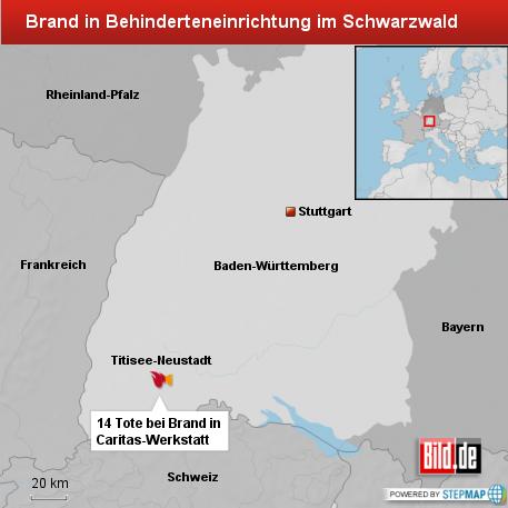 Brand in Behinderteneinrichtung in Titisee-Neustadt
