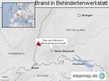 Titisee-Neustadt: Brand in Behindertenwerkstatt