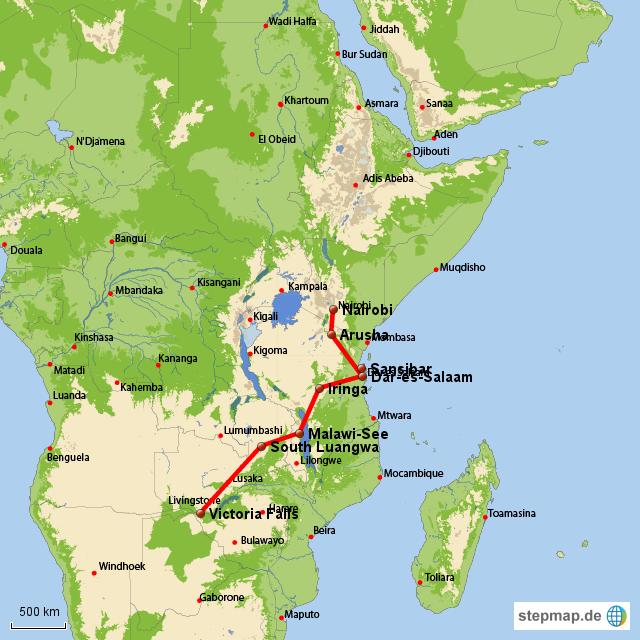 Unterwegs von Nairobi nach Vic Falls