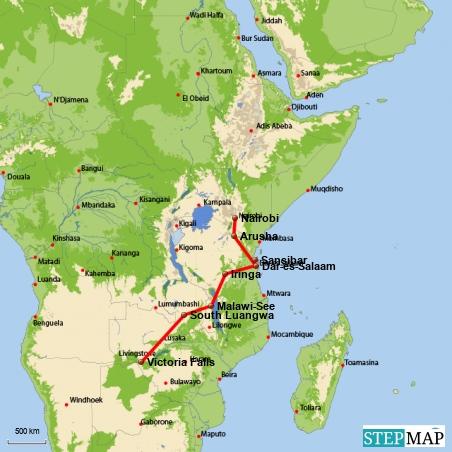 5.000 Kilometer unterwegs von Nairobi nach Victoria Falls