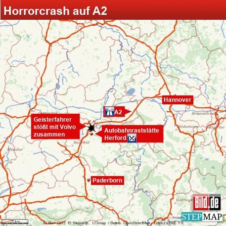 Horrorcrash auf A2