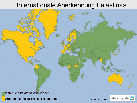 Internationale Anerkennung Palästinas