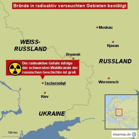Brände in radioaktiv verseuchten Gebieten bestätigt
