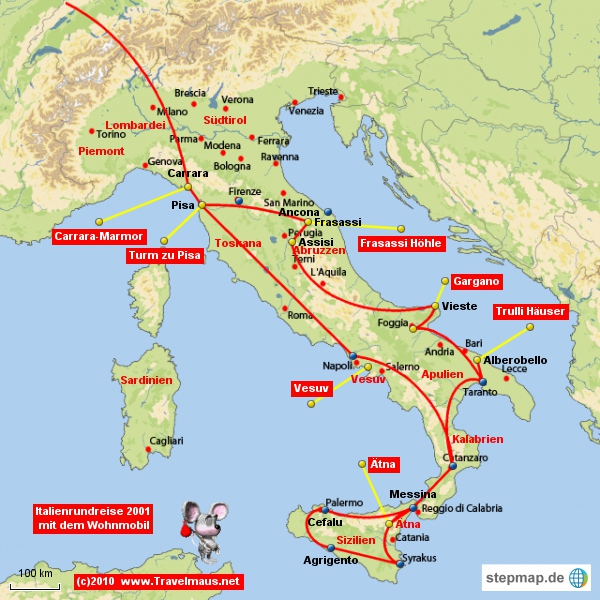 Italien 2001 mit dem Wohnmobil