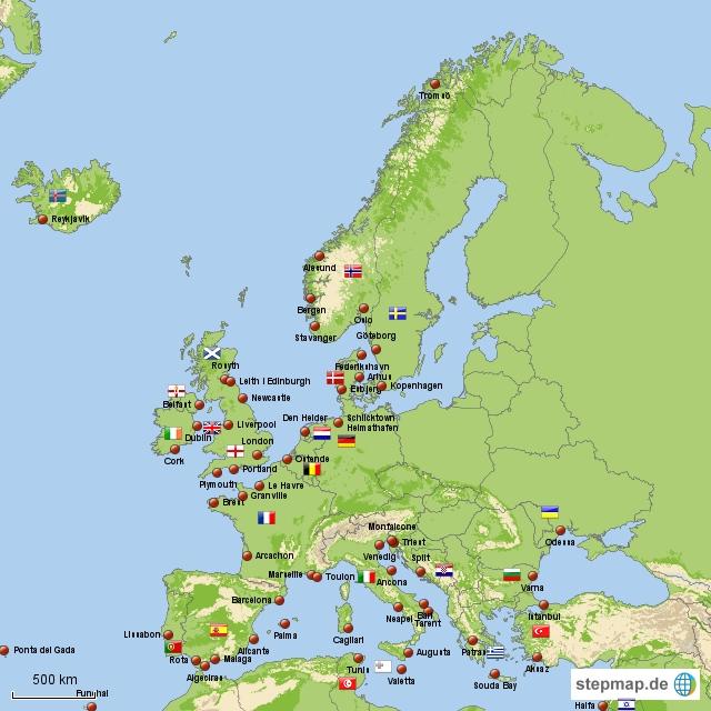 Meine Häfen Europa