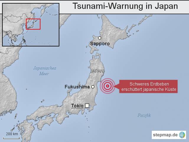 Tsunami-Warnung in Japan