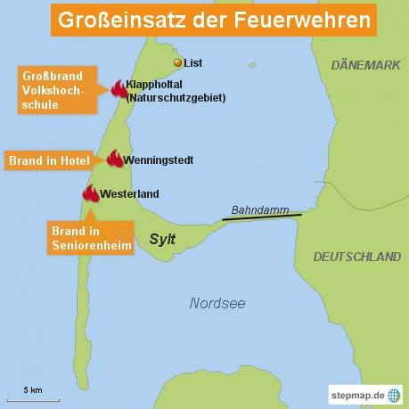 Sylt: Großeinsatz der Feuerwehren