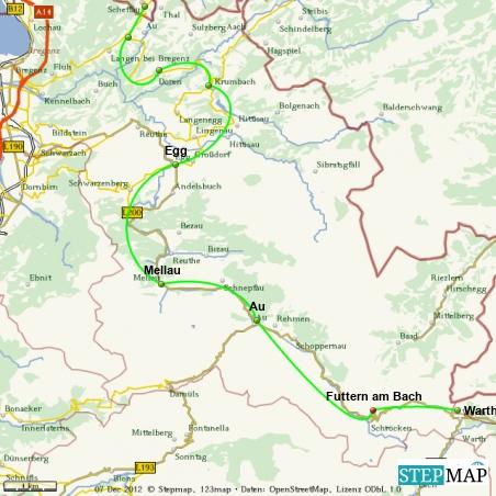 Schwungvolle Tour durch den Bregenzerwald