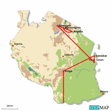 Vom Hochland der Serengeti ins exotische Sansibar