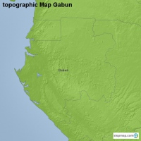 topographic Map Gabun