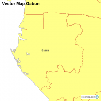 Vector Map Gabun