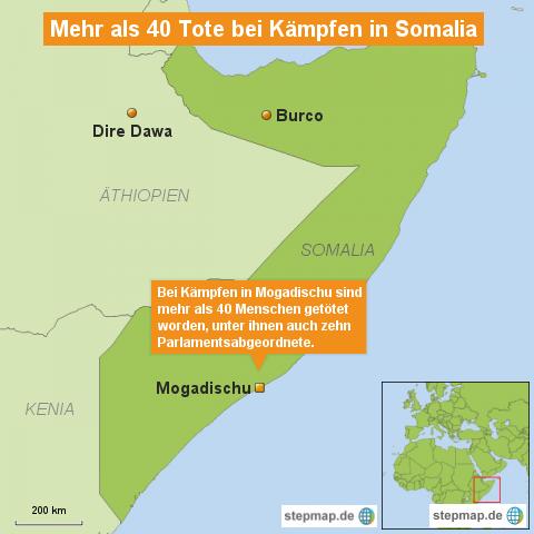 Viele Tote bei Kämpfen in Somalia