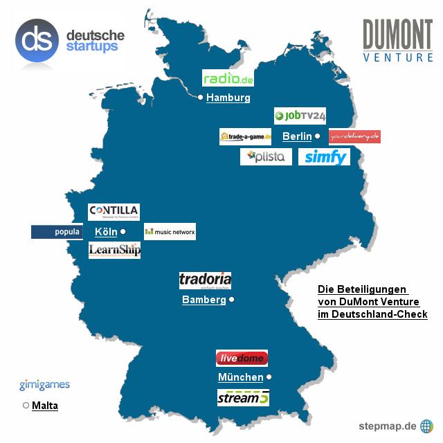 Deutschland-Check: Wo sitzen die Start-ups von DuMont Venture?