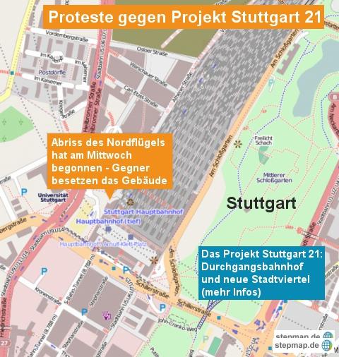 Proteste gegen Projekt Stuttgart 21