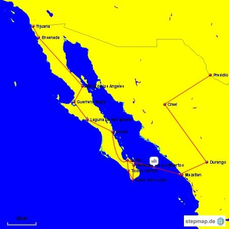 Diese Strecke genossen wir in Mexico