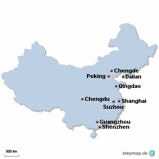 China Karte DIREKT Sprachreisen