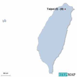 Taiwan Karte DIREKT Sprachreisen