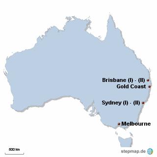 Australien Karte DIREKT Sprachreisen