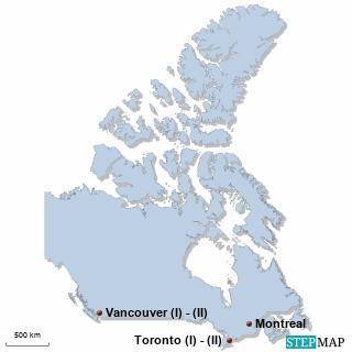 Kanada Karte DIREKT Sprachreisen