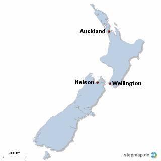 Neuseeland Karte DIREKT Sprachreisen