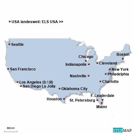 USA Karte DIREKT Sprachreisen