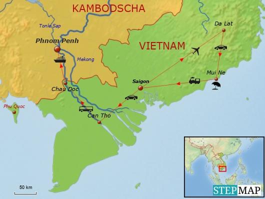 Route Vietnam2013