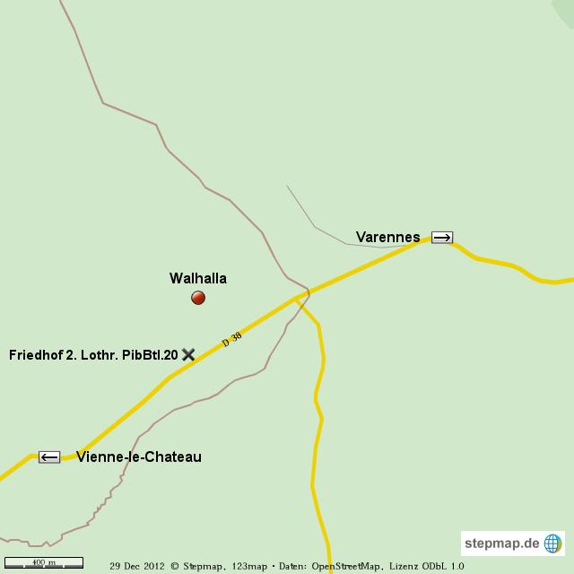 Walhalla-Blinkzentrale,Argonnen - 1.WK