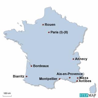 Frankreich Karte DIREKT Sprachreisen