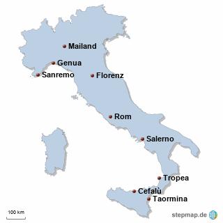 Italien Karte DIREKT Sprachreisen