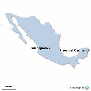 Mexiko Karte DIREKT Sprachreisen