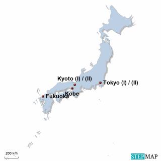 Japan Karte DIREKT Sprachreisen
