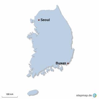 Korea Karte DIREKT Sprachreisen