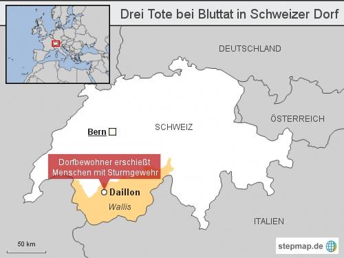 Drei Tote bei Bluttat in Schweizer Dorf