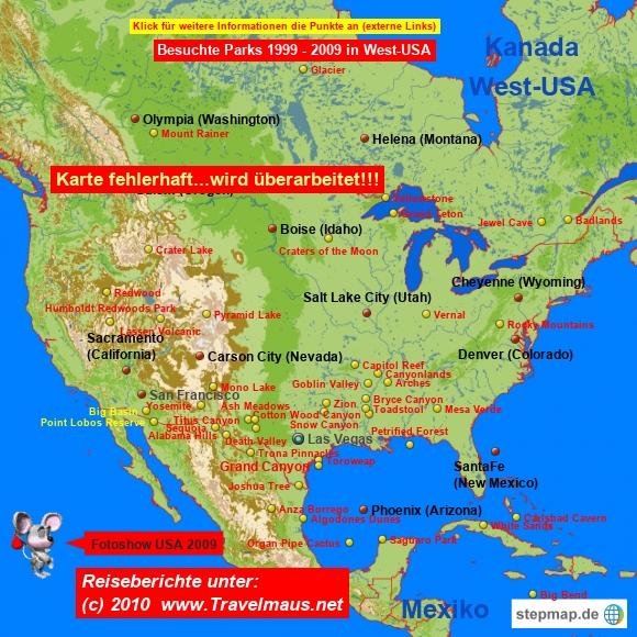 WEST-USA:Sehenswertes