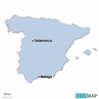 Spanien Karte Küsten.Schülersprachreisen Spanien