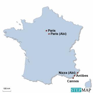 Frankreich Karte DIREKT Sprachreisen - Schüler