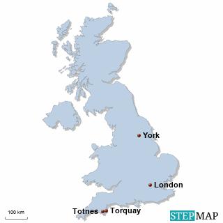 Großbritannien Karte DIREKT Sprachreisen - Familien