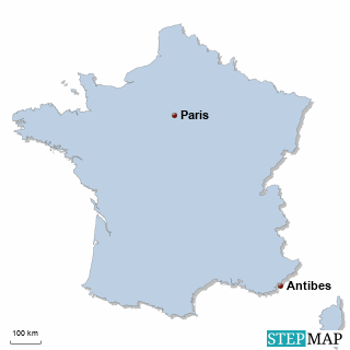 Frankreich Karte DIREKT Sprachreisen - Familien
