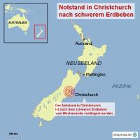 Notstand in Christchurch nach schwerem Erdbeben