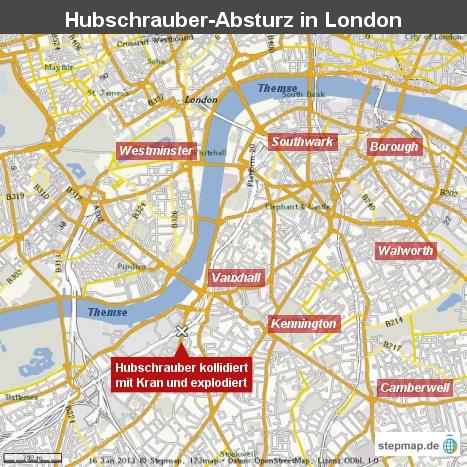 Hubschrauber-Absturz in London
