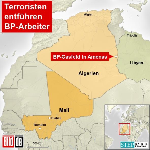 Terroristen entführen BP-Arbeiter in Algerien