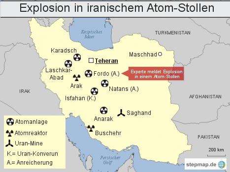 Explosion in iranischem Atom-Stollen