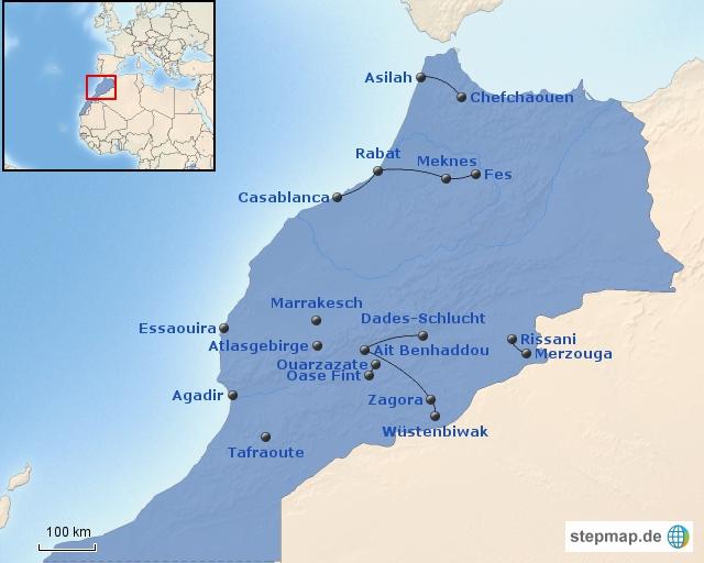 Marokko Bausteinübersicht