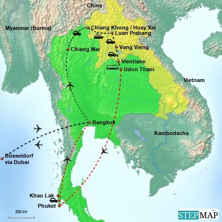 laos reisebericht von laos nach thailand. Black Bedroom Furniture Sets. Home Design Ideas