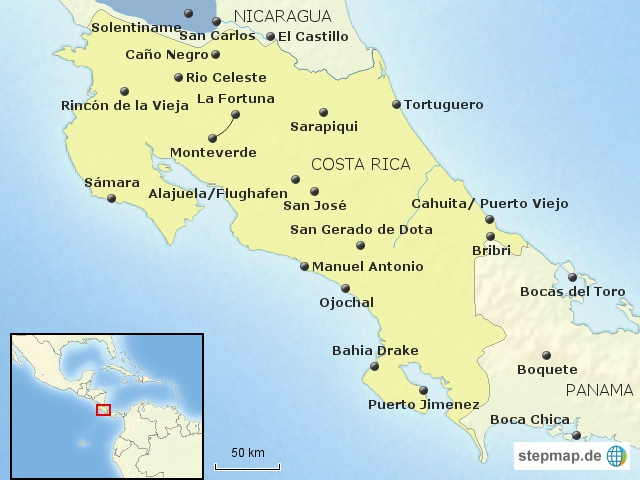 Costa Rica Bausteinübersicht