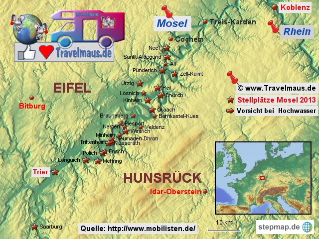 Mosel zwischen Eifel und Hunsrück
