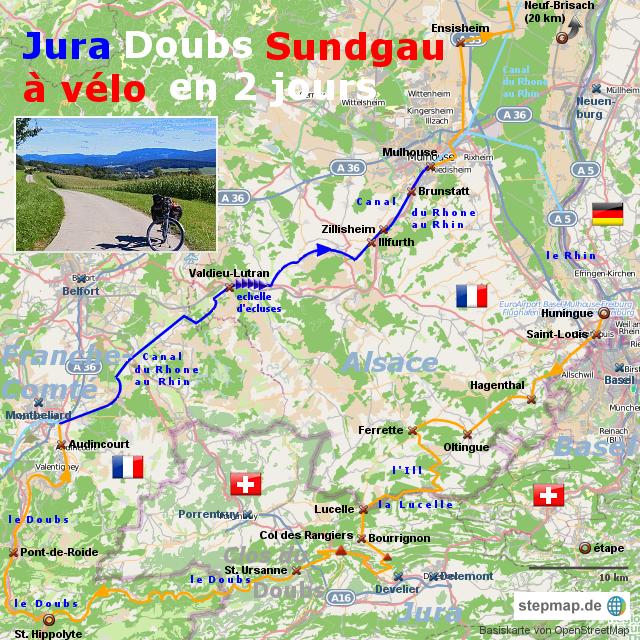 Jura, Clos du Doubs und Sundgau